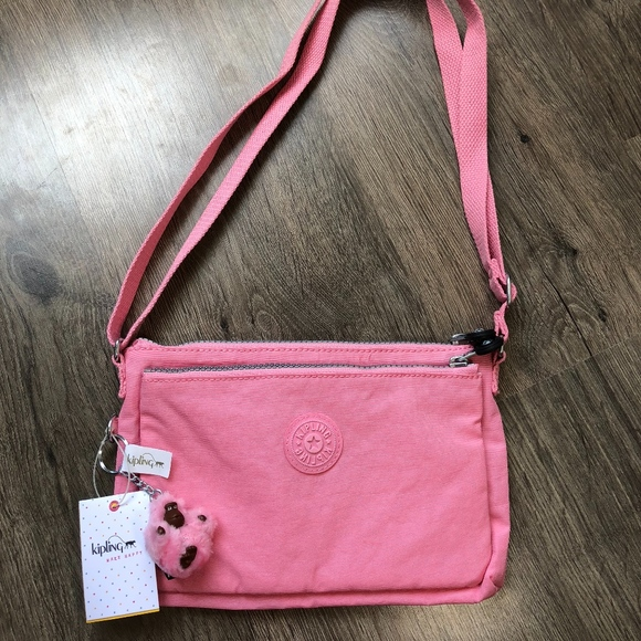 3cfdf53644e Kipling Bags | Womens Mikaela Scallop Pink Crossbody Bag | Poshmark